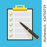 clipboard check list marks... | Shutterstock .eps vector #626703719