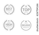 laurel wreath icons. best...   Shutterstock .eps vector #626704166
