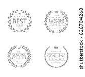 laurel wreath icons. best team  ... | Shutterstock .eps vector #626704268