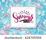 vector hand lettering summer...   Shutterstock .eps vector #626705504