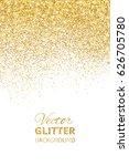 falling glitter confetti.... | Shutterstock .eps vector #626705780