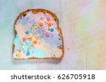unicorn food toasted bread with ... | Shutterstock . vector #626705918