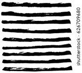 set of black ink horizontal... | Shutterstock .eps vector #626709680