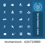tax and finance icon set clean... | Shutterstock .eps vector #626710880