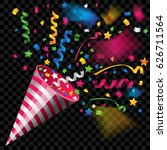 colorful party popper for... | Shutterstock .eps vector #626711564