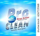 blue detergent advertising... | Shutterstock .eps vector #626715368