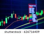 stock market chart stock market ...   Shutterstock . vector #626716409