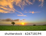 landscape of sweet potato... | Shutterstock . vector #626718194