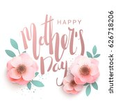 happy mother's day elegant... | Shutterstock .eps vector #626718206