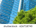 modern office building with... | Shutterstock . vector #626718740