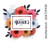 postcard to mother's day  with... | Shutterstock .eps vector #626719430