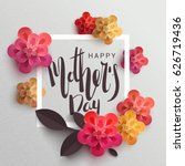 postcard to mother's day  with... | Shutterstock .eps vector #626719436