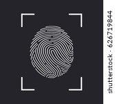 fingerprint scan icon | Shutterstock .eps vector #626719844