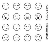 emoticon icon vector set | Shutterstock .eps vector #626721593