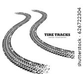 road tire tracks on white... | Shutterstock .eps vector #626722304