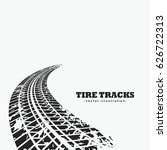 dirty tire tracks fading into... | Shutterstock .eps vector #626722313