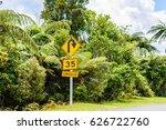 bright yellow advisory speed... | Shutterstock . vector #626722760