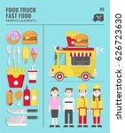 food truck street culinary flat ... | Shutterstock .eps vector #626723630
