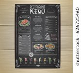 chalk drawing restaurant menu... | Shutterstock .eps vector #626725460