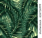 tropical palm leaf  jungle ... | Shutterstock .eps vector #626726999