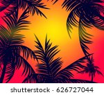 summer tropical backgrounds set ... | Shutterstock .eps vector #626727044