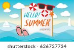 summer beach party design with... | Shutterstock .eps vector #626727734