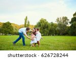 happy family playing with... | Shutterstock . vector #626728244