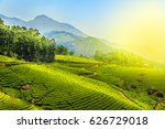 tea plantations in munnar ... | Shutterstock . vector #626729018