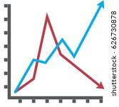 line diagram flat vector icon....   Shutterstock .eps vector #626730878