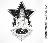 intergalactic dj buddha   super ... | Shutterstock .eps vector #626733464