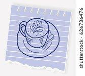 doodle coffee   Shutterstock .eps vector #626736476