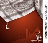 islamic greeting design for... | Shutterstock .eps vector #626738084