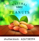 vector peanut kernels with... | Shutterstock .eps vector #626738594