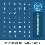 construction icon set clean... | Shutterstock .eps vector #626741549
