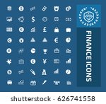 finance icon set clean vector | Shutterstock .eps vector #626741558