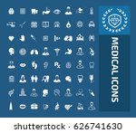 medical icon set clean vector | Shutterstock .eps vector #626741630