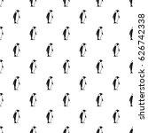 king penguin pattern seamless... | Shutterstock .eps vector #626742338