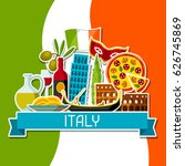 italy background design.... | Shutterstock .eps vector #626745869