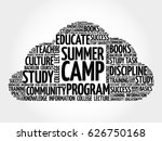 summer camp word cloud collage  ... | Shutterstock . vector #626750168