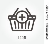 icon add to basket illustration ... | Shutterstock .eps vector #626754554