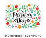 happy mother's day card.... | Shutterstock .eps vector #626754740