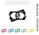 flat icon of money vector icon | Shutterstock .eps vector #626756468