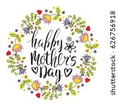 happy mother's day card.... | Shutterstock .eps vector #626756918