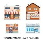 food shops building set butcher ... | Shutterstock .eps vector #626761088