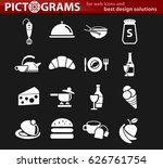kitchen vector icons for user... | Shutterstock .eps vector #626761754