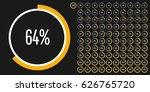 set of circle percentage... | Shutterstock .eps vector #626765720