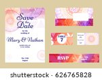 retro hand drawn card with... | Shutterstock .eps vector #626765828