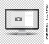 monitor with social network... | Shutterstock .eps vector #626765900