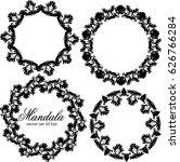mandala set. vintage... | Shutterstock .eps vector #626766284
