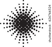 halftone radial pattern... | Shutterstock .eps vector #626766524